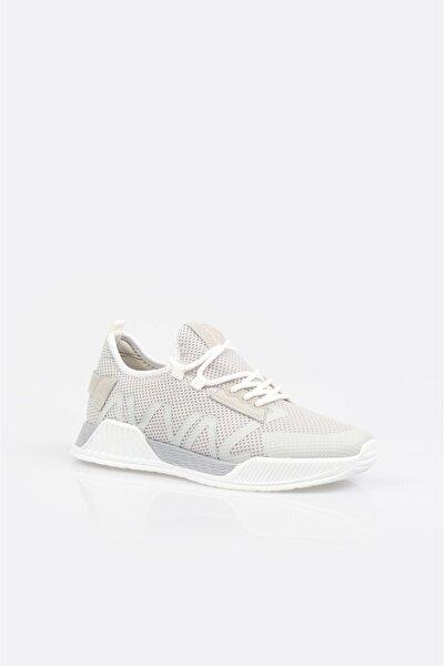 Erkek Açık Gri Yazı Detaylı Spor Ayakkabı A11y8014