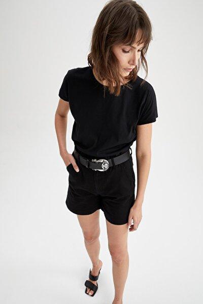 Regular FitBisiklet Yaka Basic Kısa Kollu Tişört