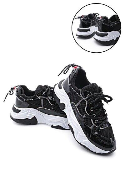 Kadın Sneaker Dolgu Topuk Spor Ayakkabı Verinasiyah
