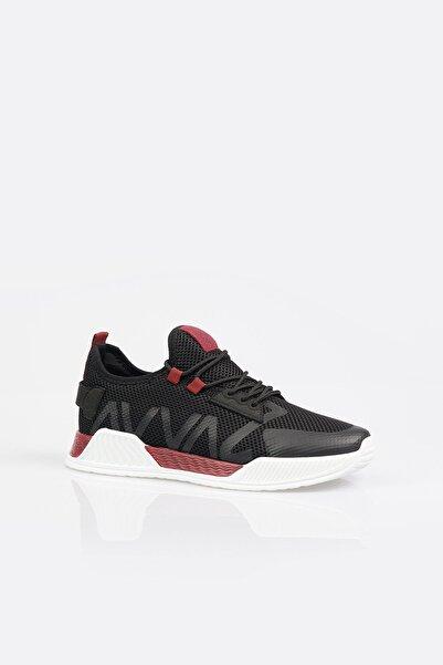 Erkek Bordo Yazı Detaylı Spor Ayakkabı A11y8014