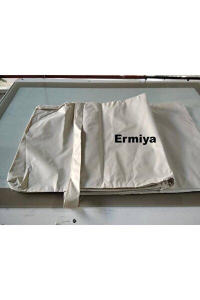 Ermiya Şezlong Minderi Kılıfı Krem Fermuarlı Polyester Impertex Kumaş Süngersiz