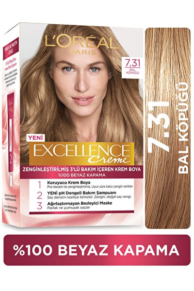 L'Oréal Paris Excellence Creme Saç Boyası - 7.31 Bal Köpüğü
