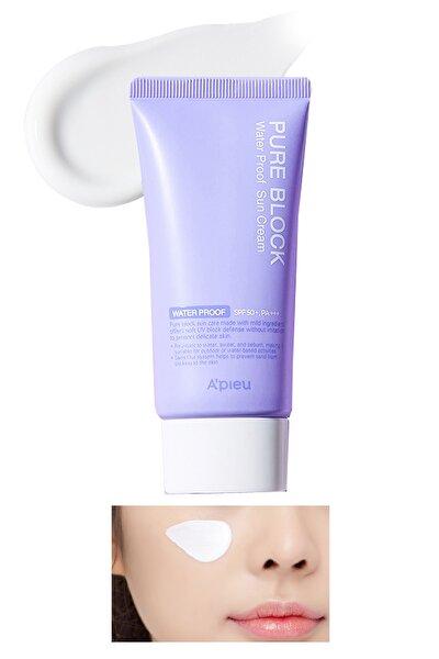 Suya Dayanaklı Güneş Kremi SPF50+/PA+++ 50ml APIEU Pure Block Water Proof Sun Cream