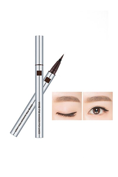 Kalıcı & Suya Dyanaklı & Kadife Uçlu Eyeliner Vivid Fix Marker Pen Liner (Deep Brown)