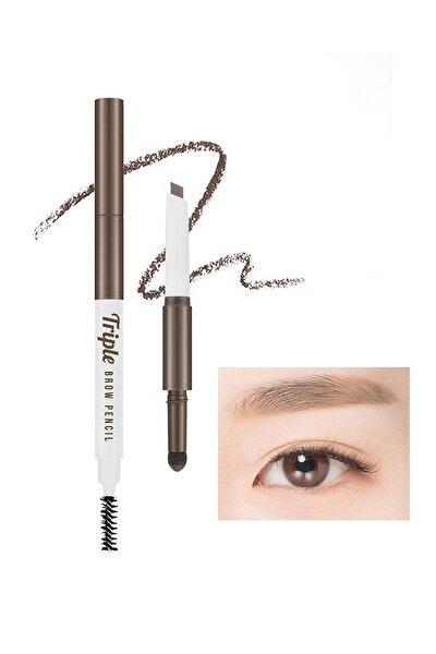Üç İşlevli Kaş Kalemi ve Pudrası Triple Brow Pencil (Natural Brown)