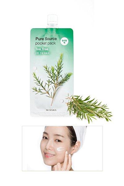 Sivilceli Ciltler İçin Çay Ağacı Yağı İçeren Uyku Maskesi 10ml Pure Source Pocket Pack Tea Tree