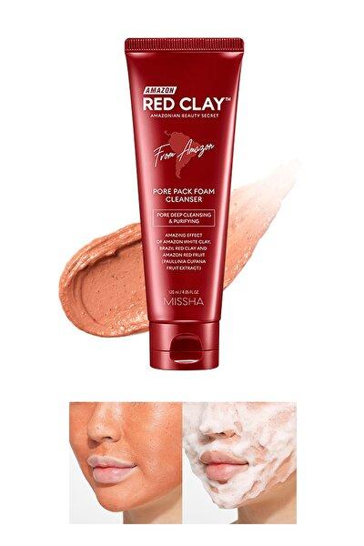 Gözenekli Ciltler İçin Amazon Kili Temizleyici 120ml Amazon Red Clay Pore Pack Foam Cleanser