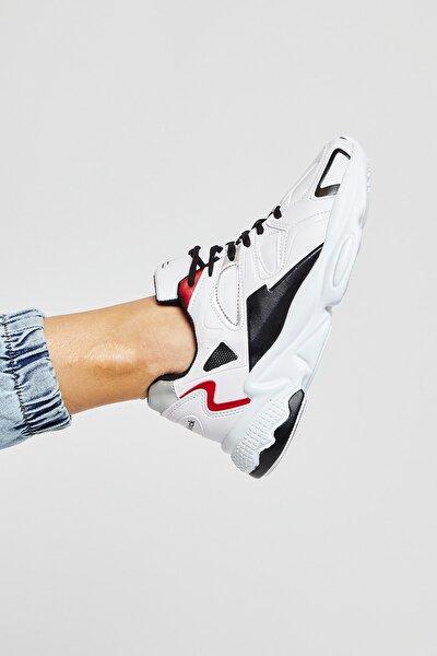 Beyaz Siyah Unisex Sneaker TB252-0