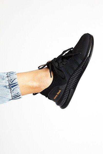 Unısex Siyah Spor Ayakkabı Tbqnt