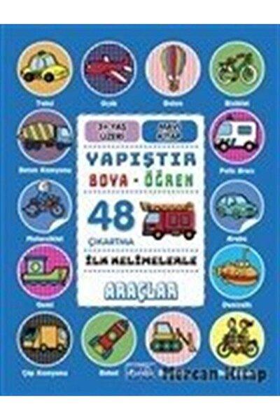 İlk Kelimelerle Araçlar Yapıştır ve Boya Öğren Mavi Kitap 48 Çıkartma 3 Yaş Üzeri