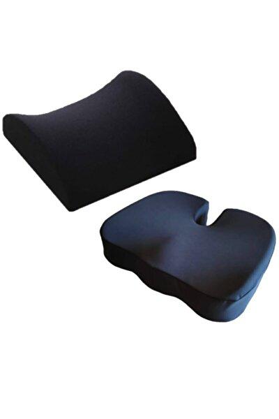 Yastık Ortopedik Oturma Minderi Simit + Bel Yastığı
