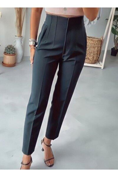 Kadın Yüksek Bel Kumaş Pantolon
