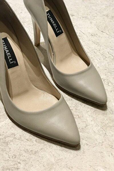 Kadın Vizon Hakiki Deri 35-40 Numara Topuklu Stiletto Ayakkabı