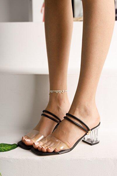 Kadın Siyah Şeffaf Topuklu Ayakkabı