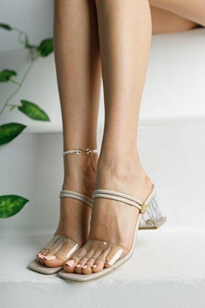 Ten Şeffaf Terlik ve Sandalet Topuklu Ayakkabı