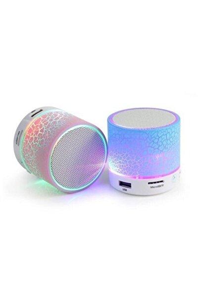 Işıklı Mini Taşınabilir Bluetooth Hoparlör Kablosuz Speaker Ses Bombası Şarjlı Mp3 Çalar Player