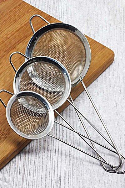 Paslanmaz Çelik 3 Boy Çay Süzgeçi