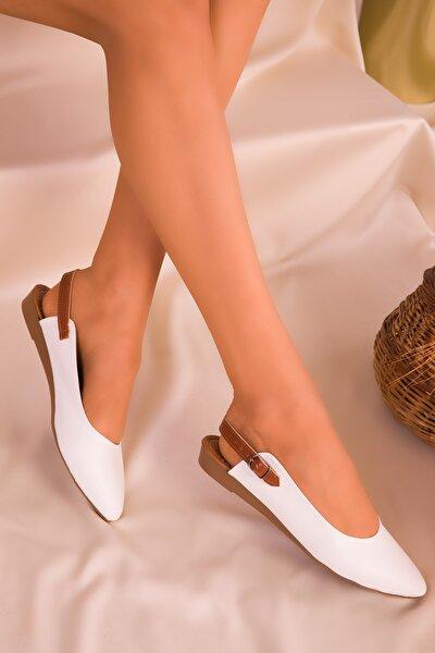 Beyaz Kadın Sandalet 16216