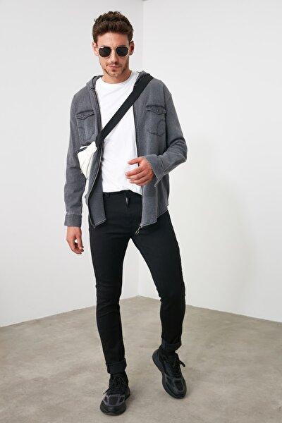 Siyah Erkek Skinny Solmayan Siyah Jeans TMNSS20JE0236