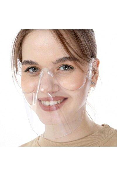 2 Adet Şeffaf Maske - Sert Plastik Maske - Virüs Maskesi