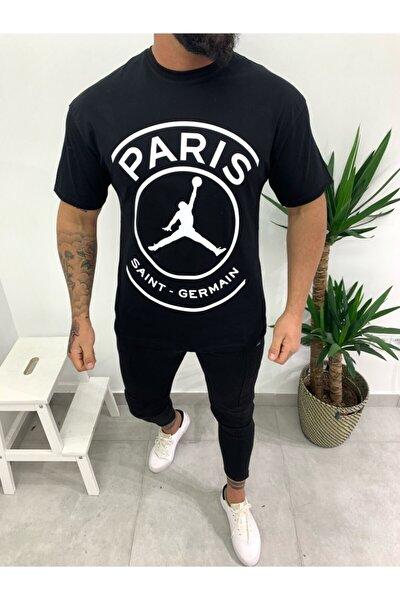 Siyah Paris Oversize T-shirt