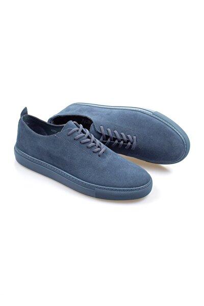 Mavi Hakiki Deri Erkek Ayakkabı