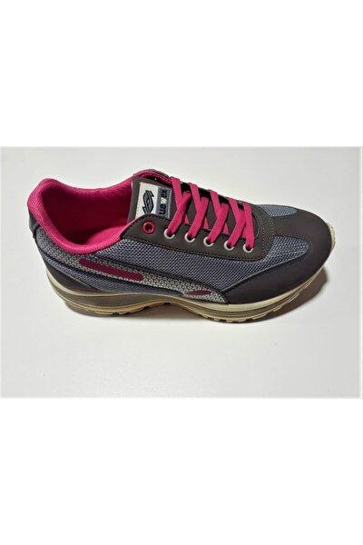 Kadın Gri Termo Taban Günlük Spor Ayakkabı