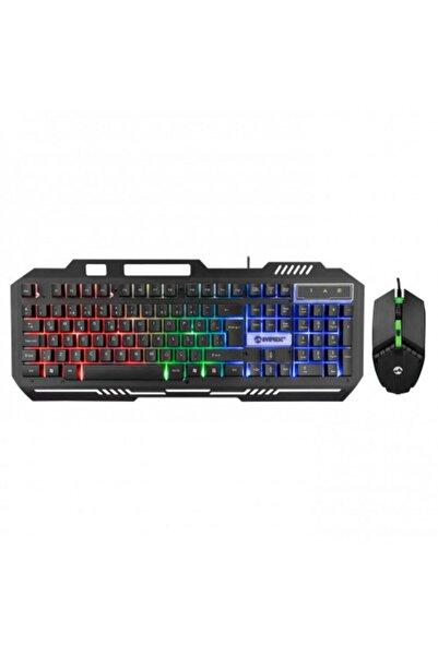 Km-g88 X-drıfter Gaming Gökkuşağı Aydınlatmalı Usb Klavye Mouse Set