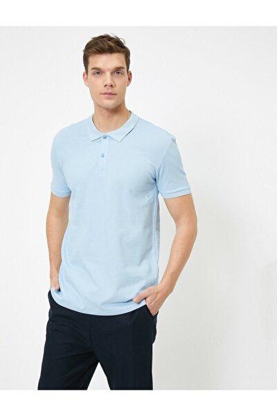 Erkek Açik Indigo Polo Yaka T-Shirt 0YAM12133LK