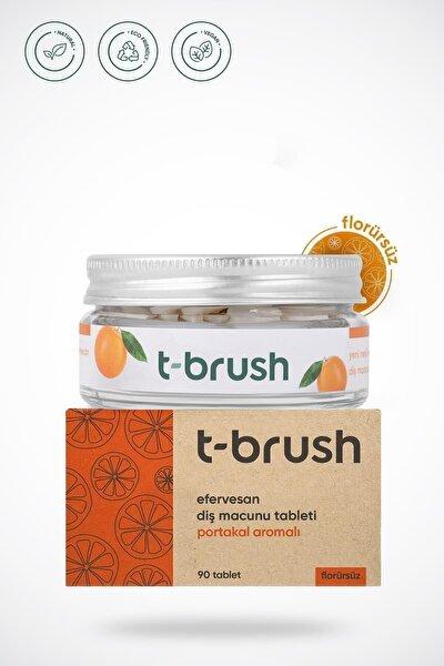 Portakal Aromalı Diş Macunu Tableti Florürsüz
