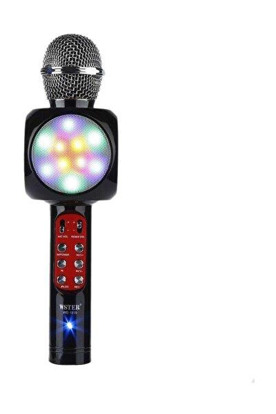 Led Işıklı Karaoke Mikrofon Dahili Hoparlörlü Usb Flash Destekli Ws-1816 (SİYAH)