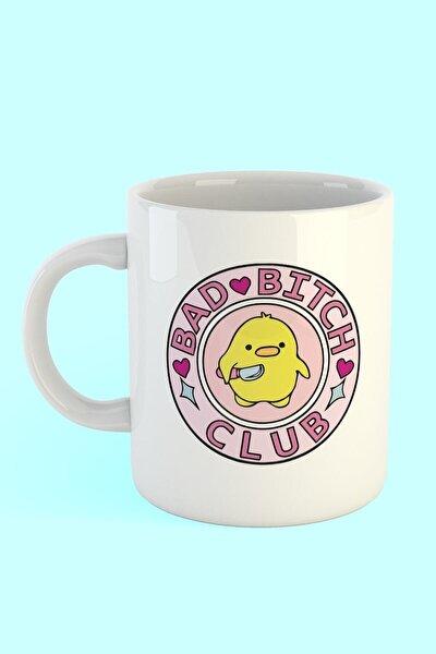 Bad Bitch Club Baskılı Kahve Kupası