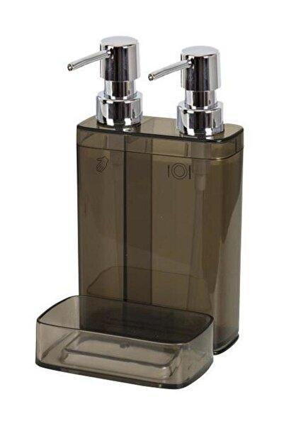 Vıva M-e10-25 Sıvı Sabunluk 2lı Sungerlıklı Seffaf Sıyah