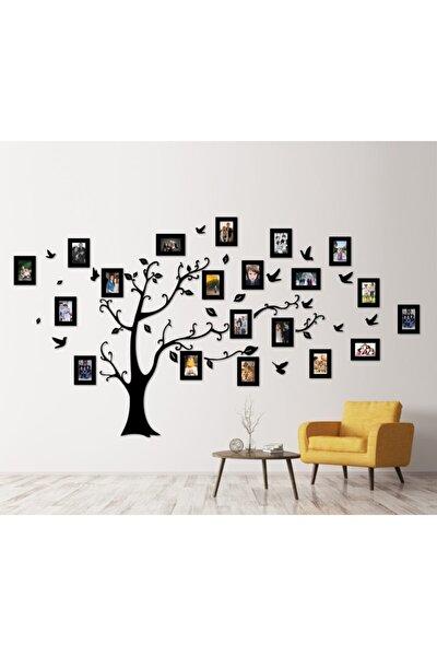 Dekoratif Ahşap 20 Çerçeveli Soy Ağacı - Siyah