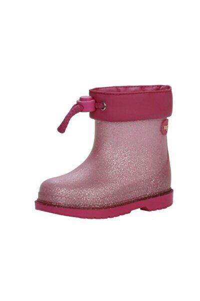 Kız Çocuk Pembe Yağmur Çizmesi Simli