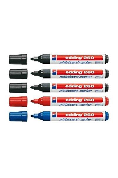 260 Beyaz Tahta Kalemi 3 Siyah 1 Mavi 1 Kırmızı