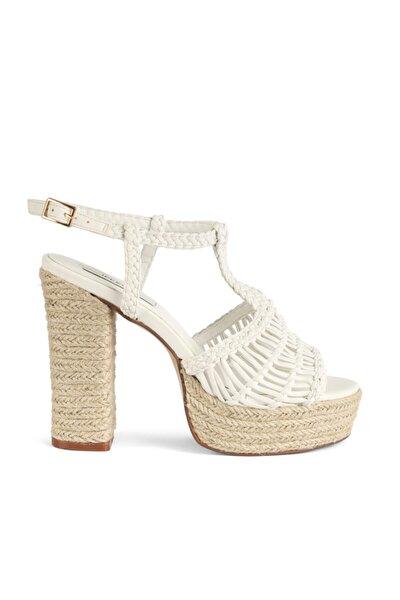 Hasır Örme Topuklu Sandalet