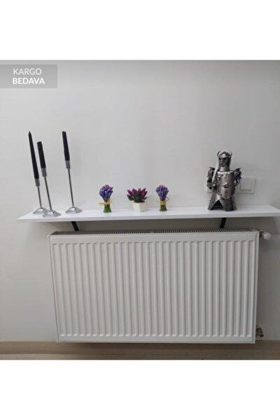 Dekoratif Petek Üstü Raf Beyaz 100cm