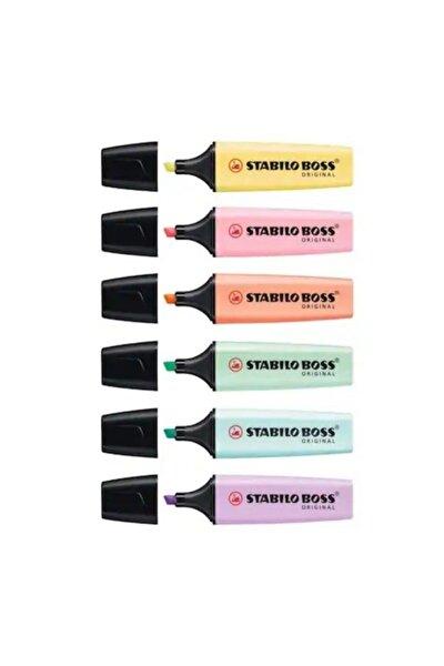 Boss Original Fosforlu İşaretleme Kalemi 6 Renk Set