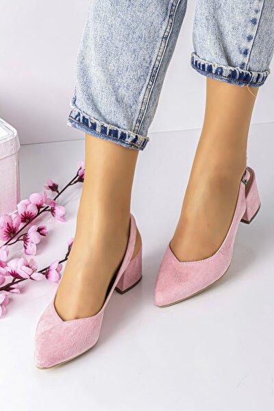 5 Cm Topuklu Bayan Topuklu Ayakkabı-s.pembe