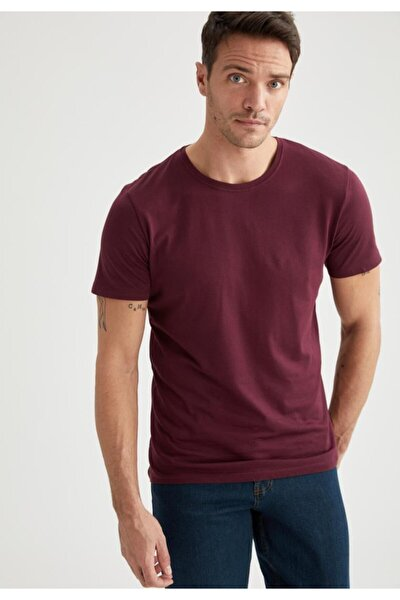 Erkek Bisiklet Yaka Slim Fit Premium Kalite Basic Tişört