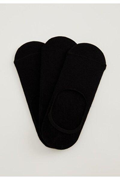 Kadın Siyah 3'lü Babet Çorap