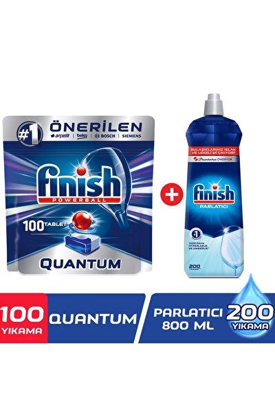 Quantum 100 Tablet Bulaşık Makinesi Deterjanı + Finish Bulaşık Makinesi Parlatıcı 800 ml