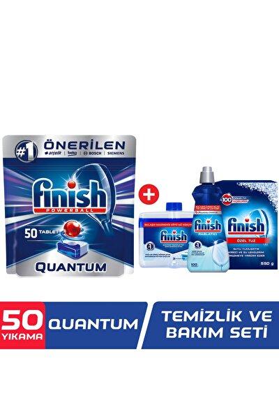 Quantum 50 Tablet Bulaşık Makinesi Deterjanı + Temizlik ve Bakım Seti