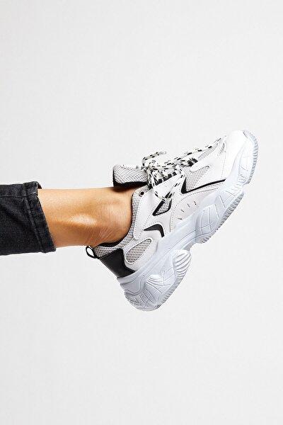 Kadın Spor Ayakkabı Beyaz Siyah Tb288