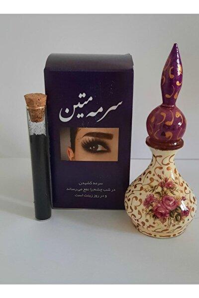 Siyah Iran Toz Sürme 8 ml ve Özel İşlemeli Sürmedanlık