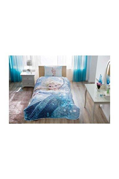 Mavi Frozen Gl Lisanslı Tek Kişilik Yatak Örtüsü