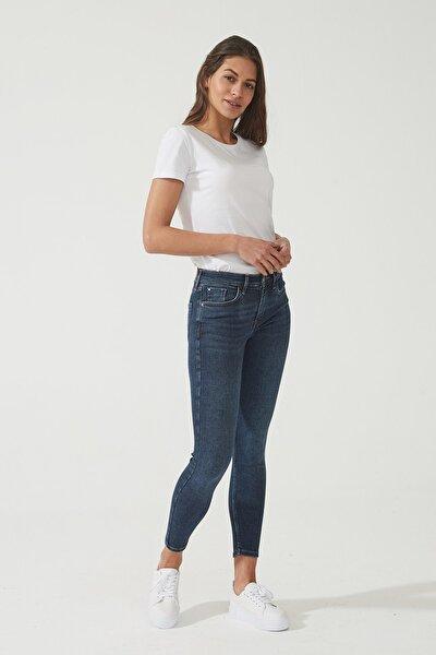 Kadın Naomi Koyu Taş Yıkama Normal Bel Skinny Jean Pantolon C 4526-007 C 4526-007