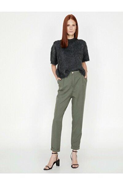 Kadın Yeşil Pantolon 9KAK42433UW