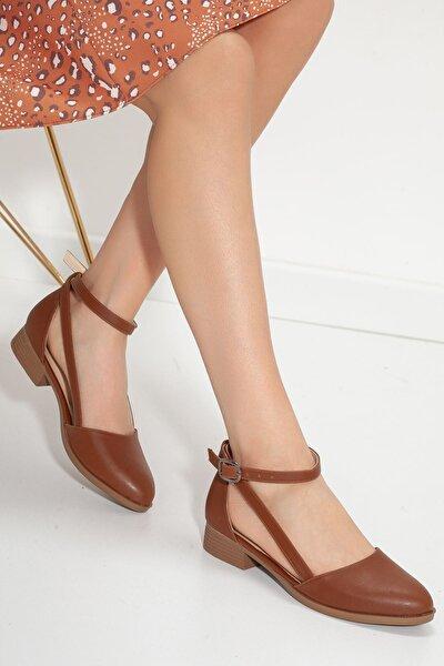 Kadın Taba Rayna Kısa Topuk Cilt Ayakkabı